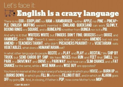 English ain't no picnic as it is. Do I need a second language in the book?