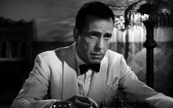 Humphrey Bogart - in Casablanca, playing chess with Peter Lorre