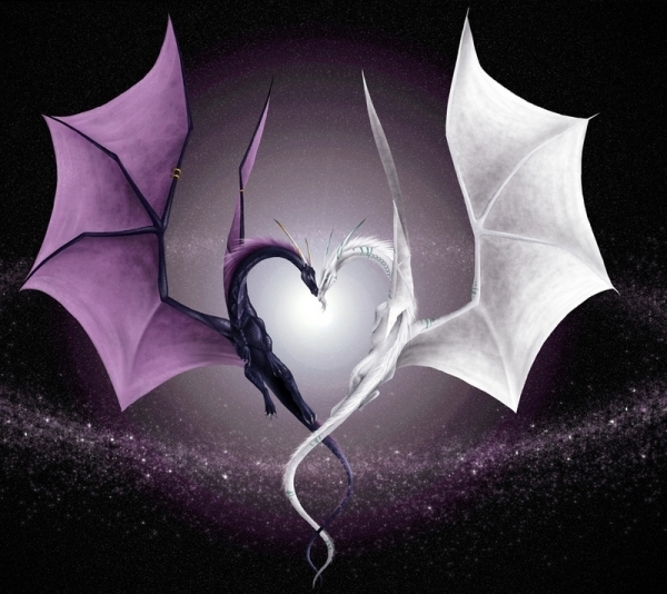dragon-love-white-heart